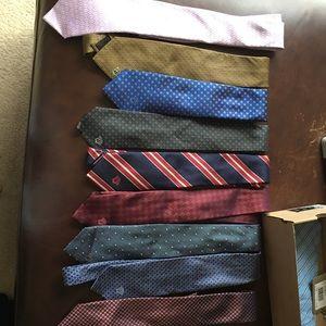 9 Versace ties